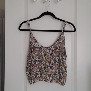 Floral Print Crop Tank Top from Talula